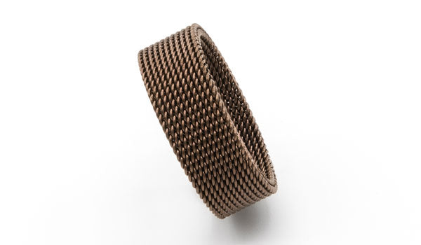Brown mesh ring feature photo
