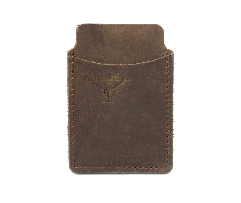 Brown Handmade Top Grain Leather Capital Sleeve Wallet by PlayHardLookDope in Chelsea New York