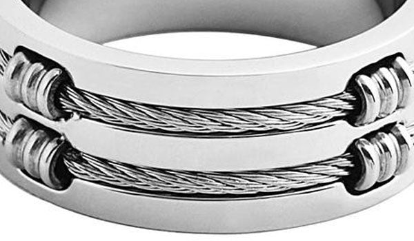 Silver Layer Cable Wire Ring feature img close up