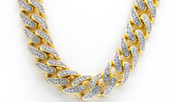 Gold cuban 20mm necklace