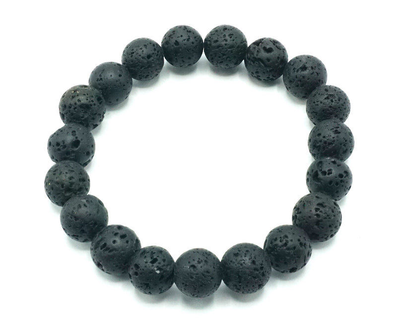 Grey Weathered Agate Natural Stone Bracelet