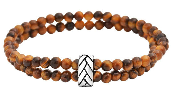 deep brown tigers eye bracelet stack feature img
