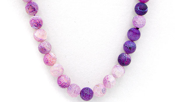 Purple dragon vein agate natural stone necklace feature img