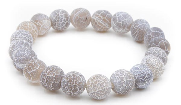 dragon vein Grey 10mm natural stone bracelet