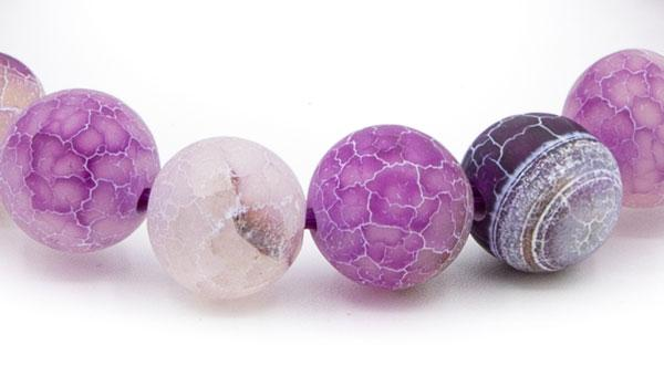 purple dragon vein natural stone bracelet 10mm close up