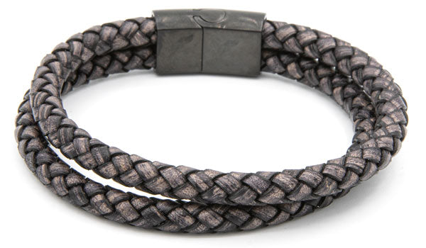 Dual Layered Suited Leather Bracelet