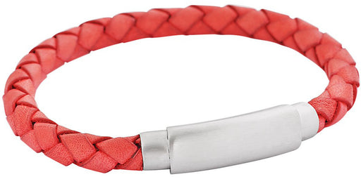 Pink Braided Soft Leather Bracelet feature img