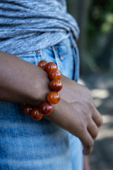 Luxury Carnelian Natural Gemstone Bracelet