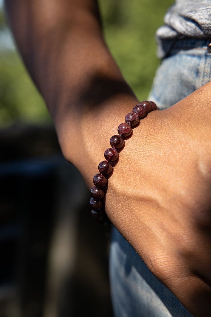 Garnet Natural Gemstone Bracelet