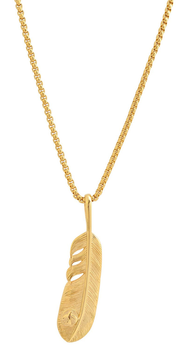 Gold Leaf Pendant Necklace feature img full length