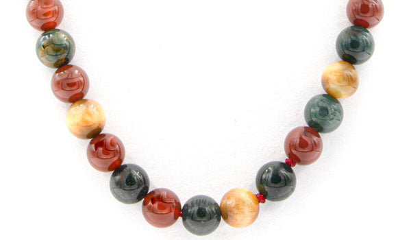 Multi-Color Indigenous Natural Stone Necklace feature img