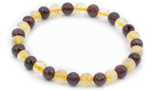 Citrine and Garnet natural stone