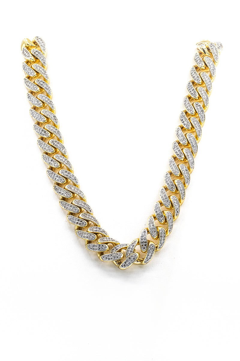 Brazilian Link 24'' Chain Necklace in Stainless Steel