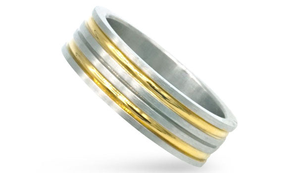 Gold and Silver band ring feature img