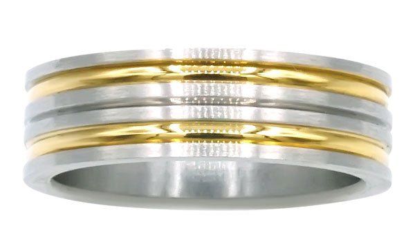 Gold and Silver band ring second img