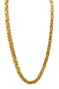 Gold Stainless Steel Thick Bike Chain Necklace 24 Inch chain with a lobster claw clasp handmade by playhardlookdope