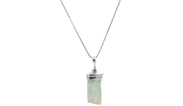 Sterling Silver Hiddenite Gemstone Necklace.