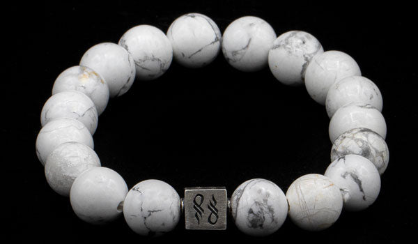 Howlite Natural Gemstone Centerpiece Bracelet