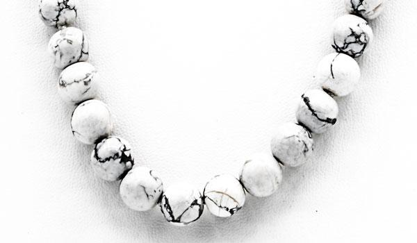 Howlite natural stone necklace