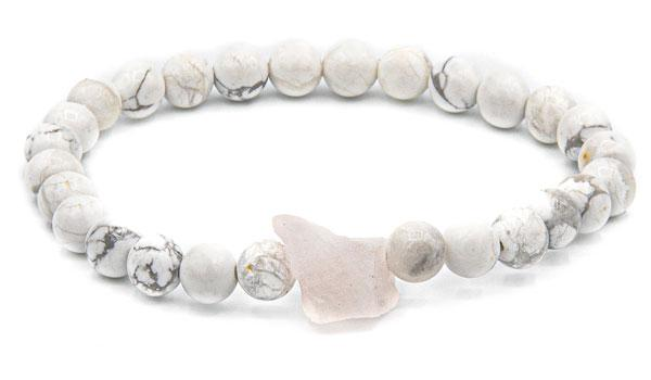 Howlite raw natural stone bracelet
