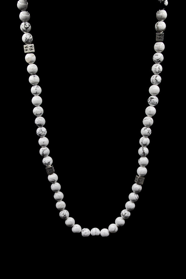 Howlite Natural Gemstone Centerpiece Necklace