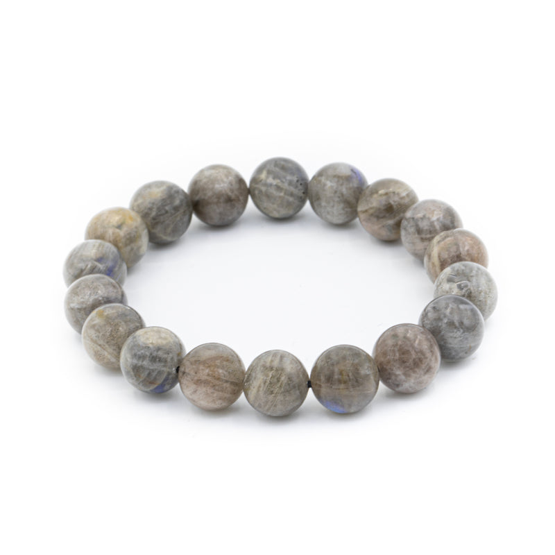 Silver Leaf Jasper Natural Stone Bracelet Gloss Finish