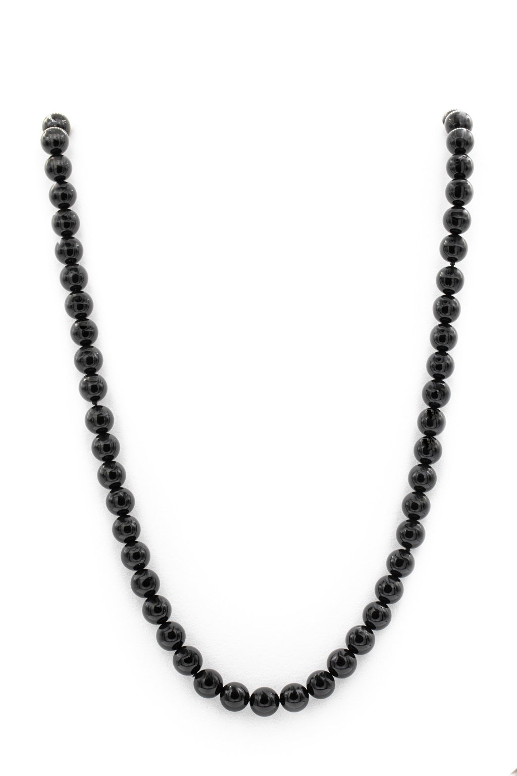"<img src=""IMG_9954.JPG"" alt=""Black Tourmaline 30 Inch 10mm Gloss Natural Stone Necklace"">"