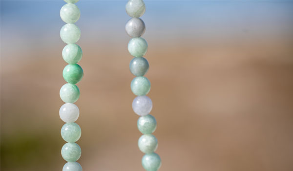 Burmese Jade Natural Stone Necklace floating