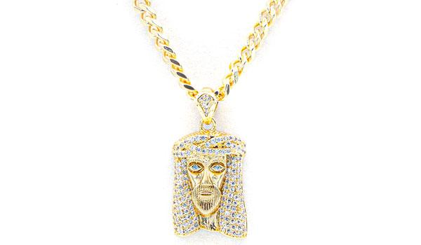 Gold Jesus pendant necklace