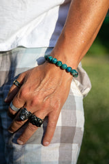Chrysocolla Natural Gemstone Bracelet