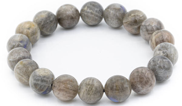 Alt= Blue Labradorite Natural Gemstone Bracelet.