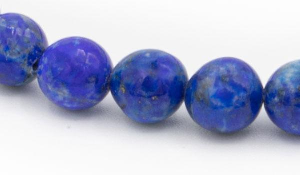 Lapis natural stone bracelet close up