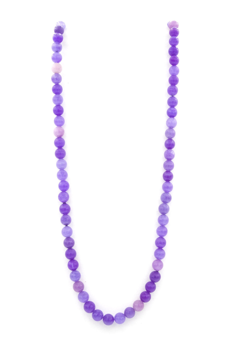 Lavender Jade Natural Stone Necklace second img