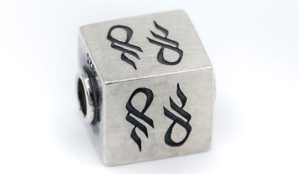 Sterling Silver Cube Charm
