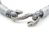 Silver stainless steel cobra snake clasp metallic grey