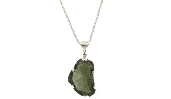 Sterling Silver Moldavite Necklace