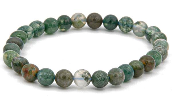 Moss agate 6mm natural stone bracelet feature img