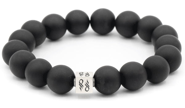 Onyx Matte Natural Gemstone Centerpiece Bracelet