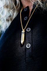 Gold Detachable Bullet Necklace