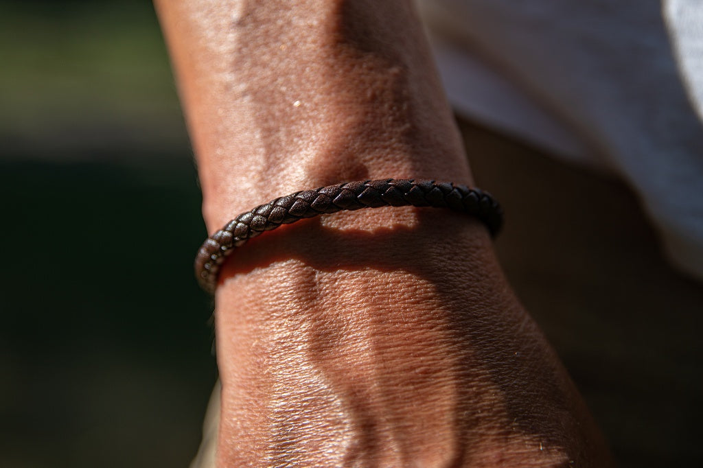 The Sepia Leather Bracelet