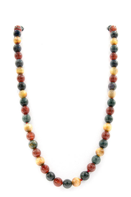 Multi-Color Indigenous Natural Stone Necklace full img