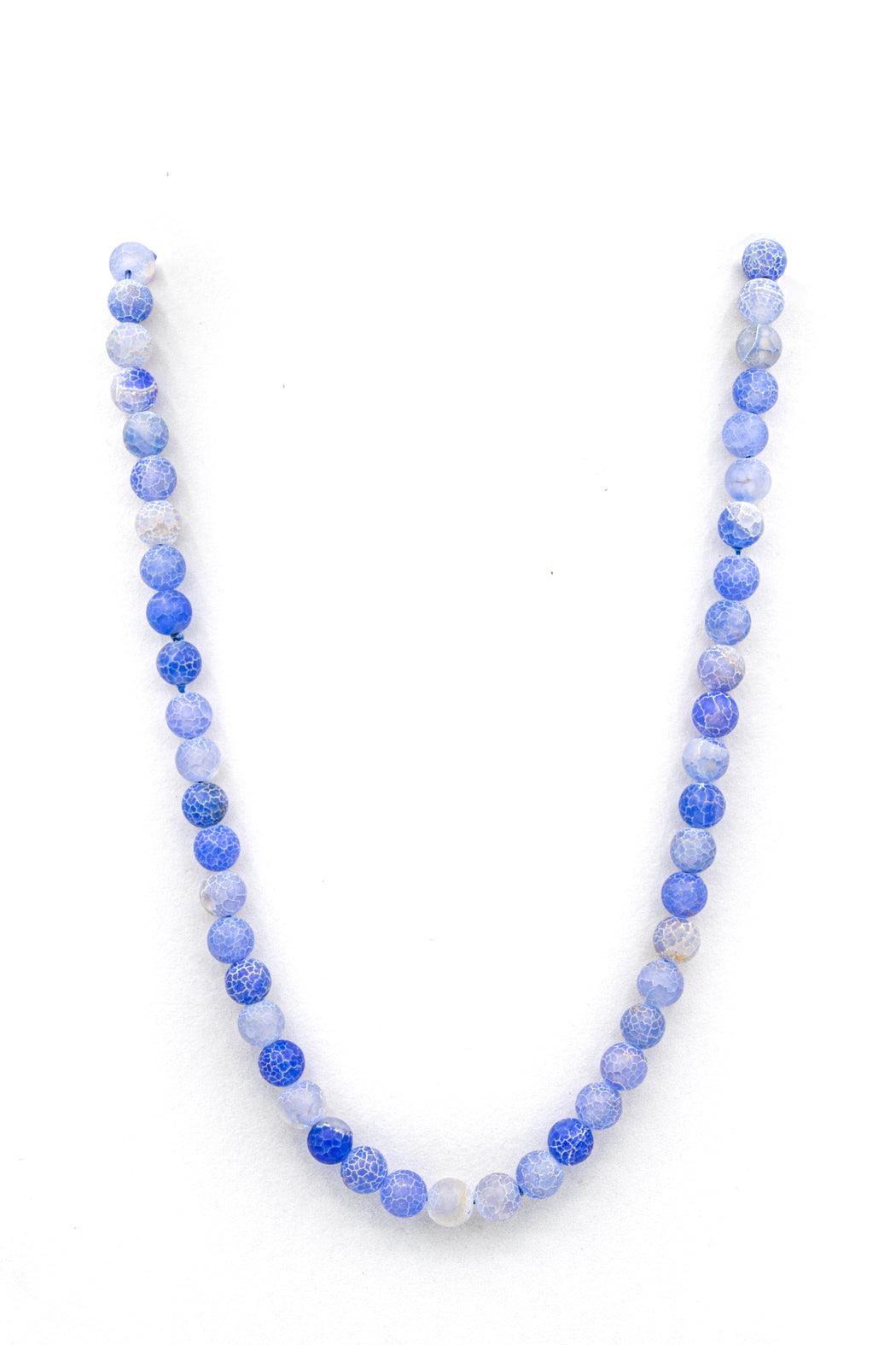 Blue dragon vein agate natural stone necklace feature full length img