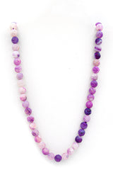 Purple dragon vein agate natural stone necklace feature full length img
