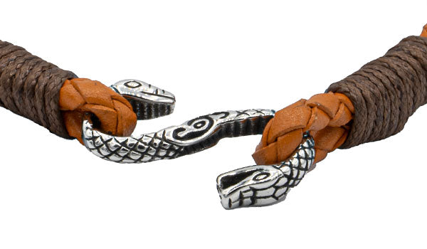 Rugged Cobra Leather Bracelet