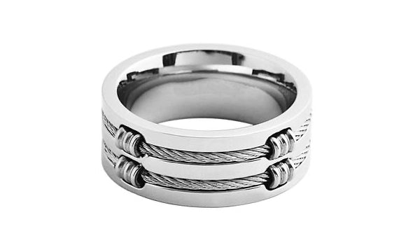 Silver Layer Cable Wire Ring