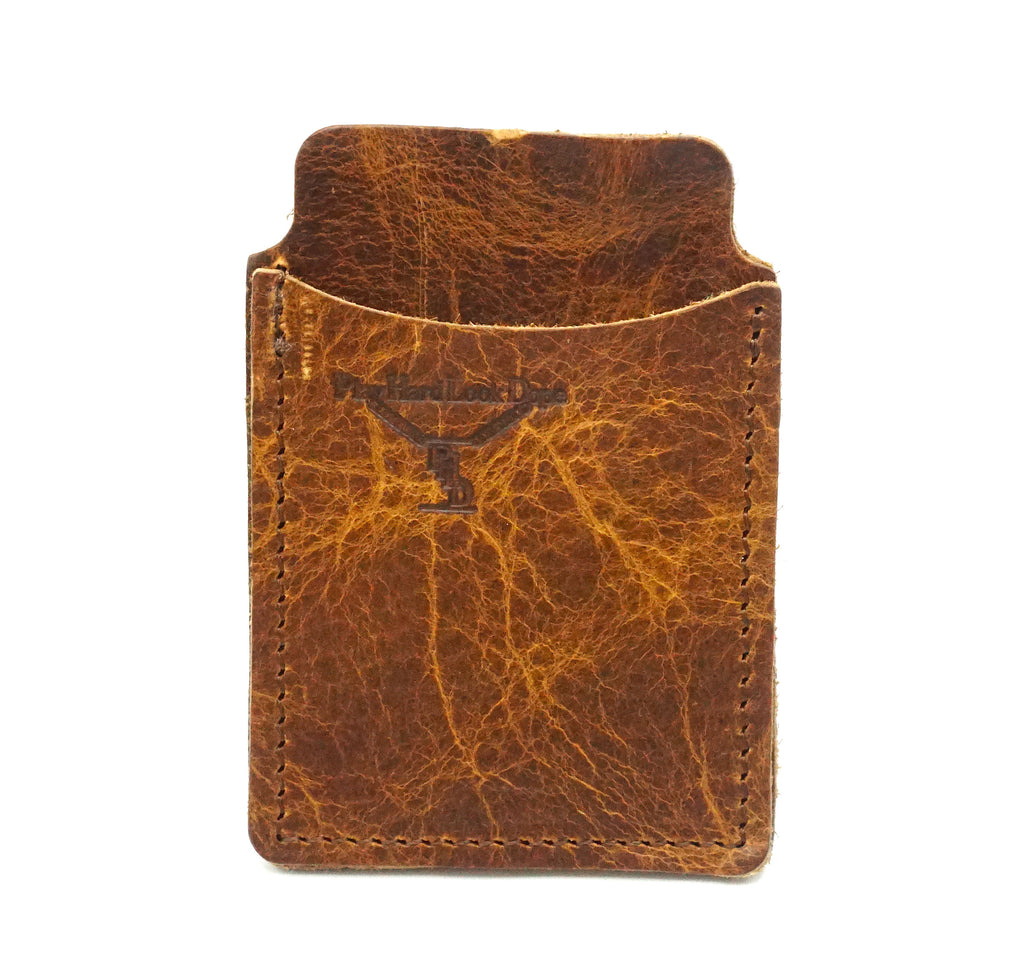 Saddle Top Grain Leather Capital Sleeve wallet Handcrafted PlayHardLookDope