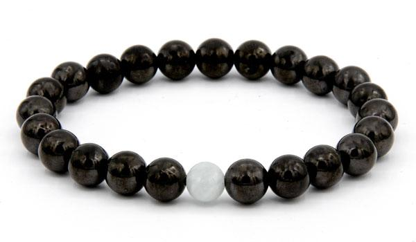 Shungite and Jade natural stone bracelet