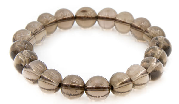 Smoky quartz natural stone bracelet