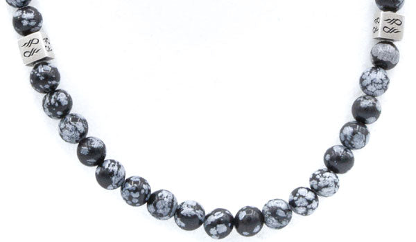 Snowflake Obsidian Natural Gemstone Centerpiece Necklace
