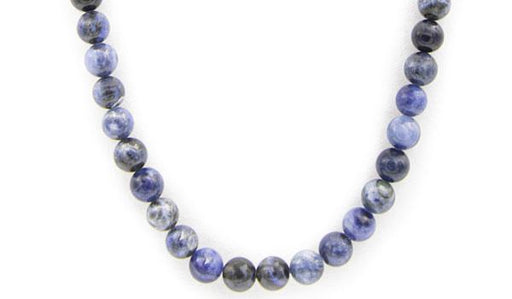 Sodalite gloss natural stone necklace
